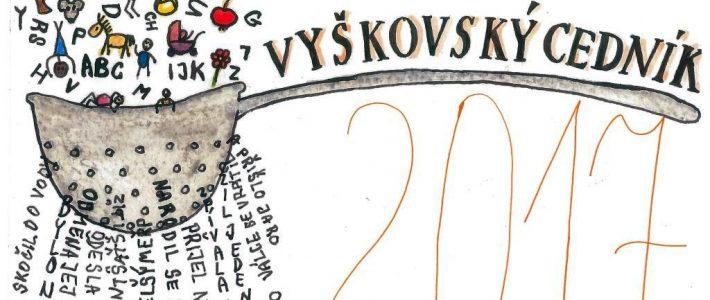 Literární soutěž Vyškovský cedník 2017